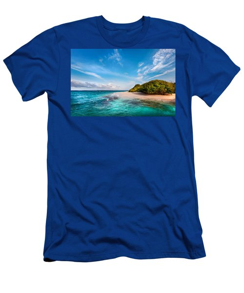 Men's T-Shirt (Athletic Fit) featuring the photograph Deserted Maldivian Island by Jenny Rainbow