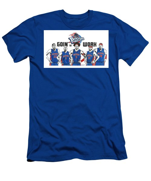 Detroit Goin' To Work Pistons Men's T-Shirt (Athletic Fit)