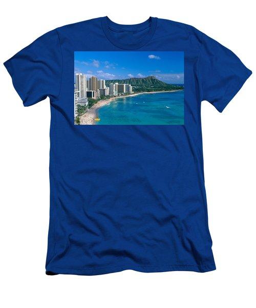 Diamond Head And Waikiki Men's T-Shirt (Athletic Fit)