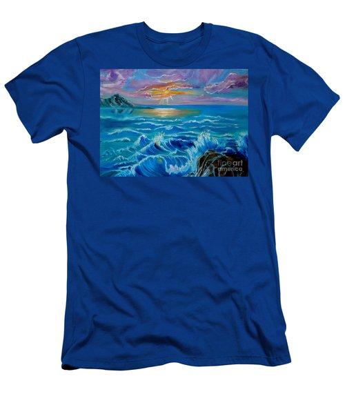 Diamond Head Sunset Jenny Lee Discount Men's T-Shirt (Athletic Fit)