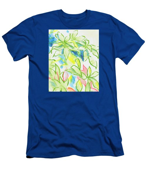 Different Coloured Hydrangea Leaves - Green Red Yellow Men's T-Shirt (Athletic Fit)