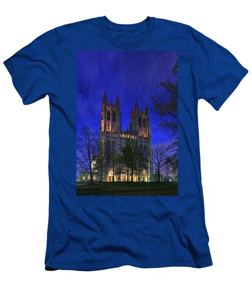 Digital Liquid - Washington National Cathedral After Sunset Men's T-Shirt (Athletic Fit)