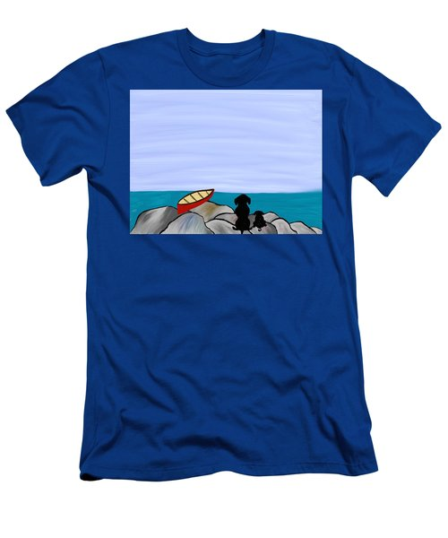 Dogs At Beach Men's T-Shirt (Athletic Fit)
