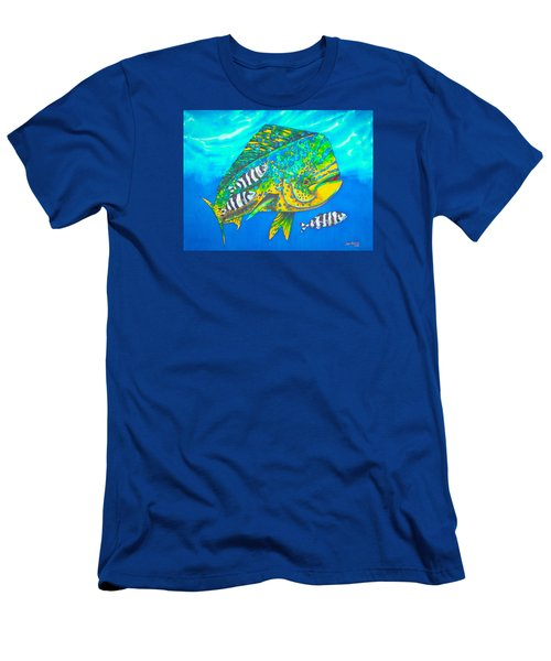 Dorado And Pilot Fish - Mahi Mahi Fish Men's T-Shirt (Athletic Fit)