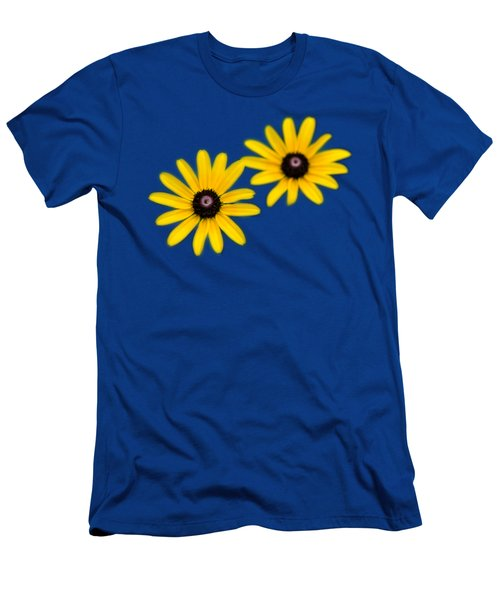 Double Daisies Men's T-Shirt (Slim Fit) by Christina Rollo