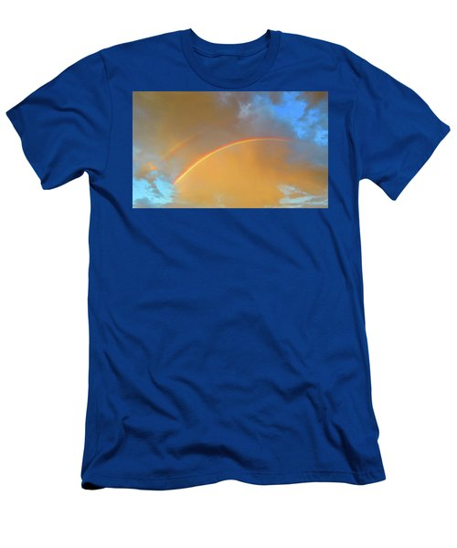 Double Rainbows In The Desert Men's T-Shirt (Athletic Fit)