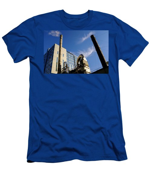 Downtown Buildings And Factory In Seattle Washington Men's T-Shirt (Athletic Fit)
