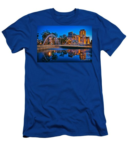 Downtown San Diego Waterfront Park Men's T-Shirt (Slim Fit) by Sam Antonio Photography