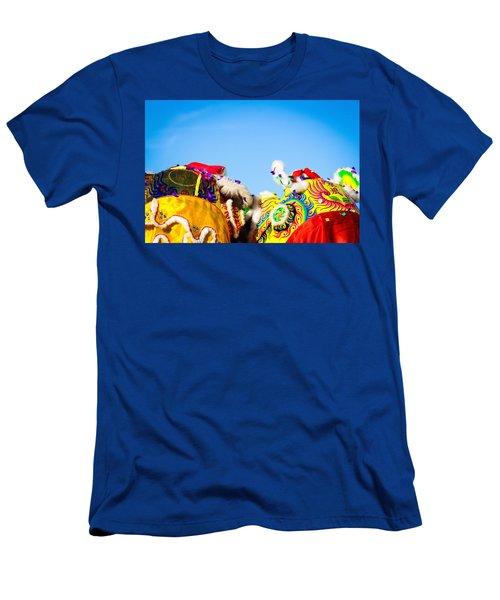 Dragon Dance Men's T-Shirt (Slim Fit) by Bobby Villapando