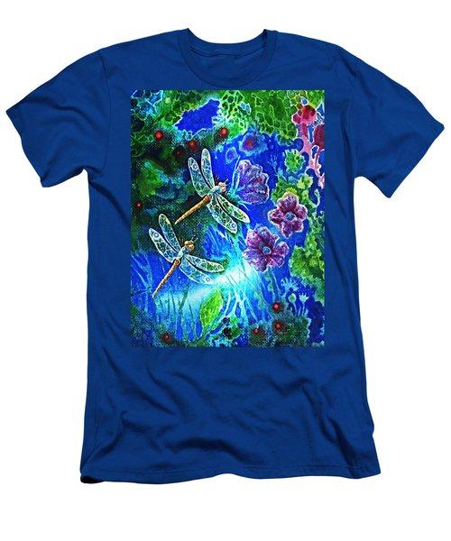 Dragonflies Men's T-Shirt (Slim Fit) by Hartmut Jager
