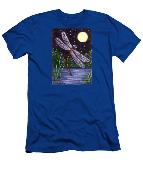 Dragonfly Dreaming Men's T-Shirt (Slim Fit) by Sandra Estes