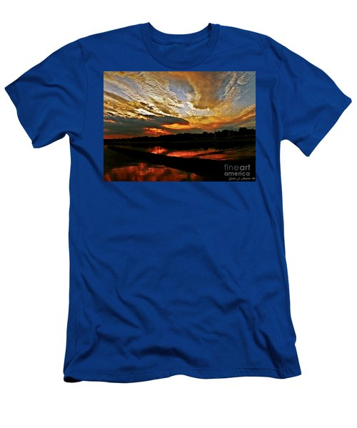 Drama In The Sky At The Sunset Hour Men's T-Shirt (Slim Fit) by Carol F Austin
