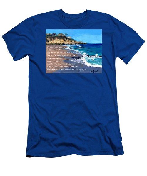 Dream Forward Men's T-Shirt (Slim Fit) by Alice Leggett