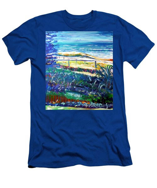 Men's T-Shirt (Slim Fit) featuring the painting Dune Grasses by Winsome Gunning