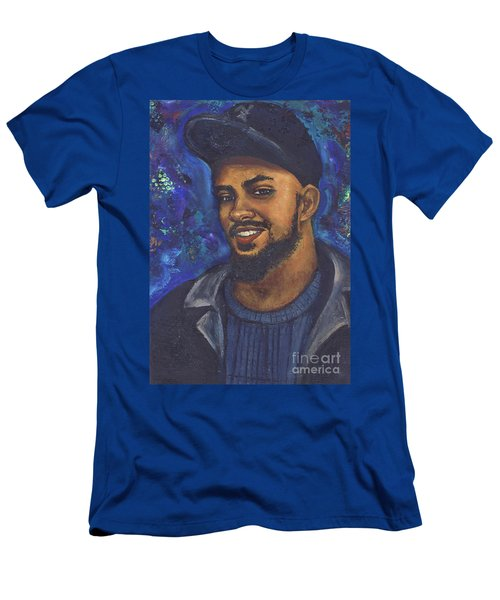 Men's T-Shirt (Slim Fit) featuring the painting E by Alga Washington