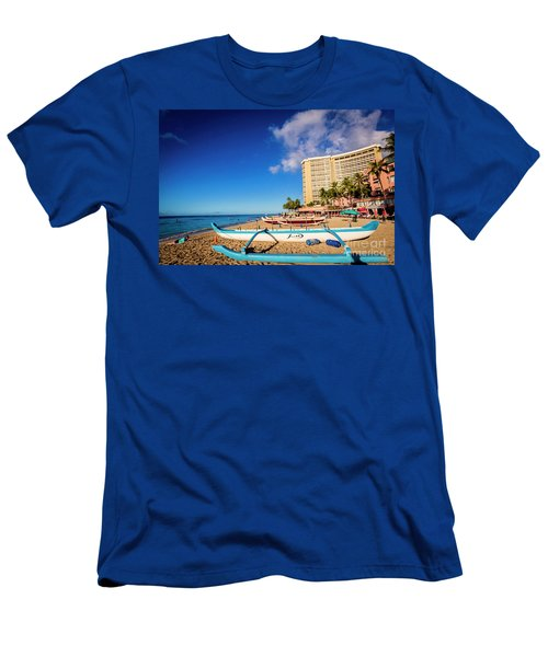 Early Morning At Outrigger Beach,hawaii Men's T-Shirt (Athletic Fit)