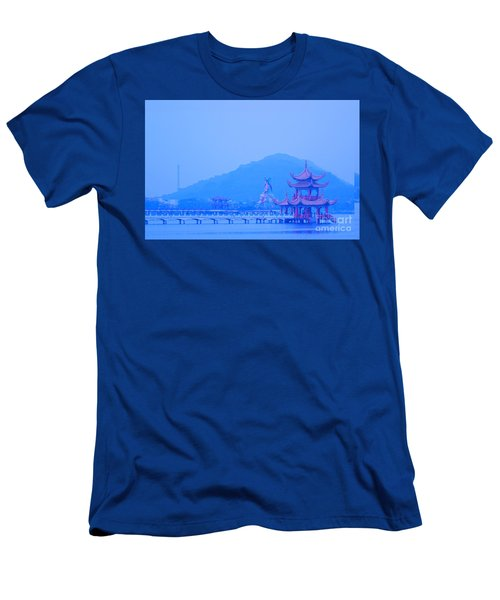 Men's T-Shirt (Slim Fit) featuring the photograph Early Morning At The Lotus Lake by Yali Shi