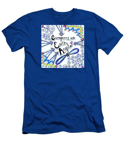 Earth Angel Men's T-Shirt (Slim Fit) by Carole Brecht