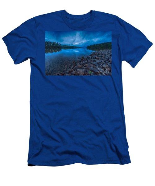 Earth Day Rain At The Tatoe Hole  Men's T-Shirt (Slim Fit) by Robert Loe