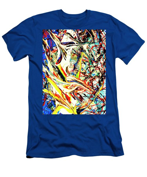Men's T-Shirt (Slim Fit) featuring the painting Earth Quaked by Elf Evans