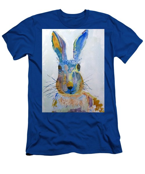 Easter Bunny Men's T-Shirt (Slim Fit) by Sandy McIntire