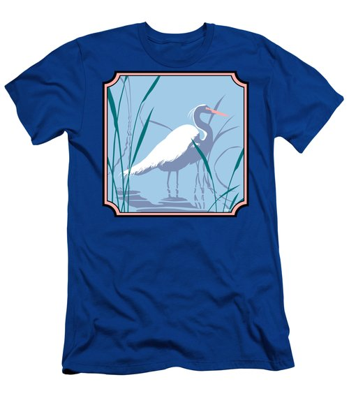 Egret Tropical Abstract - Square Format Men's T-Shirt (Slim Fit) by Walt Curlee