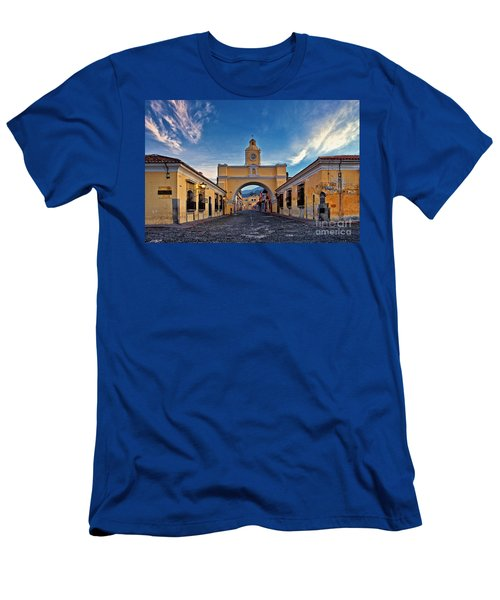 Men's T-Shirt (Athletic Fit) featuring the photograph El Arco De Santa Catarina, Antigua, Guatemala by Sam Antonio Photography
