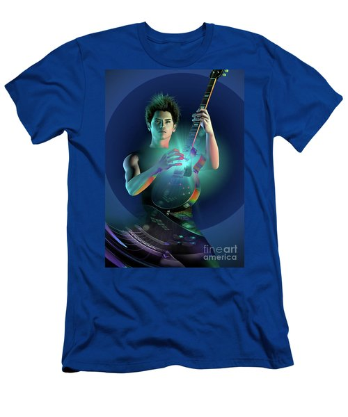 Men's T-Shirt (Slim Fit) featuring the digital art Electric Blue by Shadowlea Is