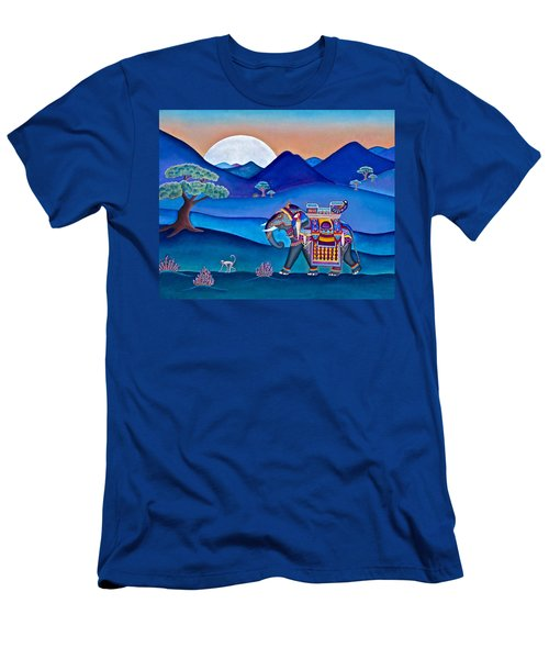 Elephant And Monkey Stroll Men's T-Shirt (Athletic Fit)