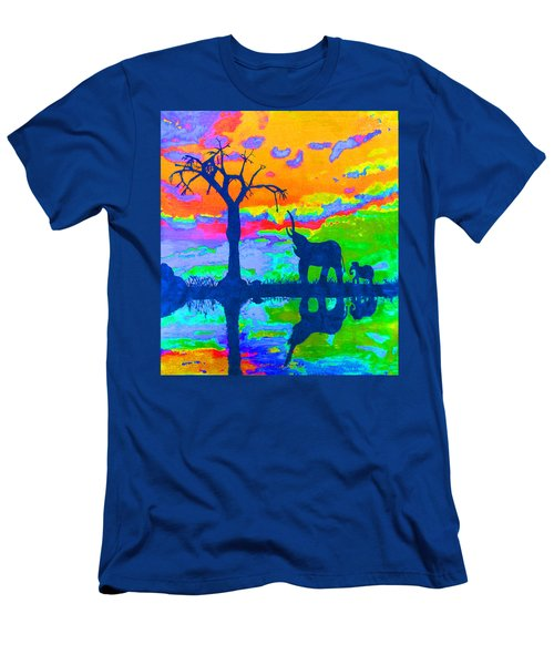 Elephant Reflections Men's T-Shirt (Athletic Fit)