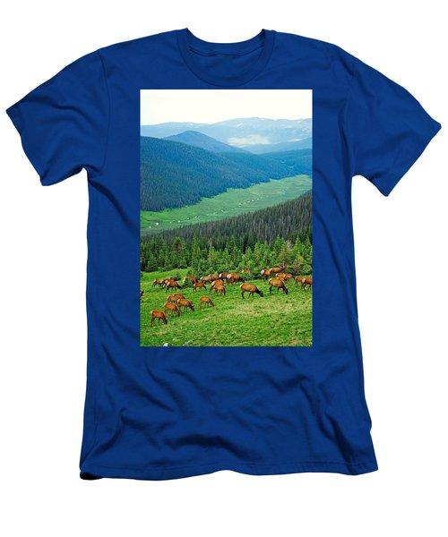 Elk Highlands Men's T-Shirt (Athletic Fit)