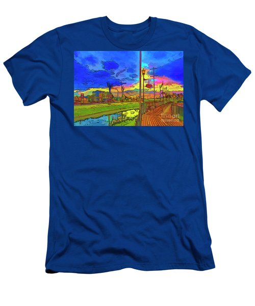 Embankment In Rainbow Colors. Men's T-Shirt (Athletic Fit)