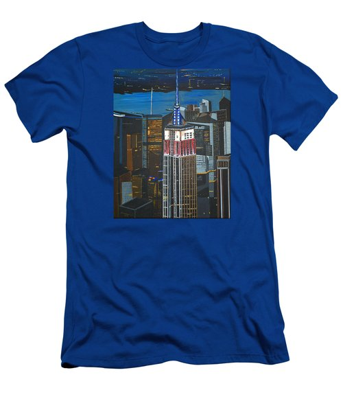 Empire State Men's T-Shirt (Slim Fit) by Donna Blossom