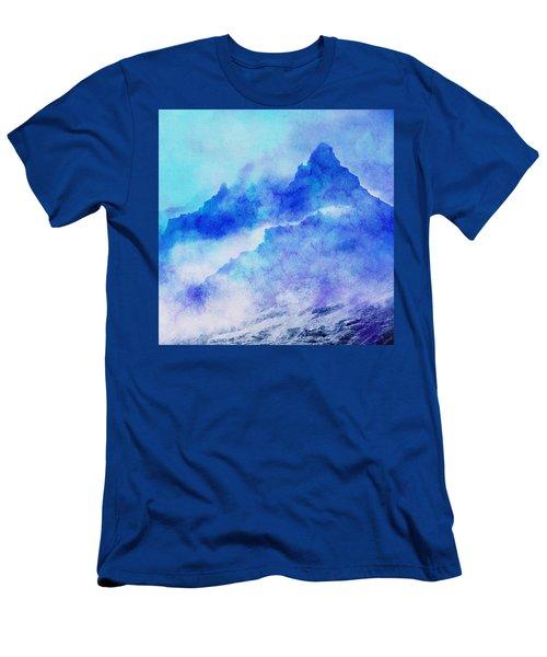 Men's T-Shirt (Slim Fit) featuring the digital art Enchanted Scenery #4 by Klara Acel