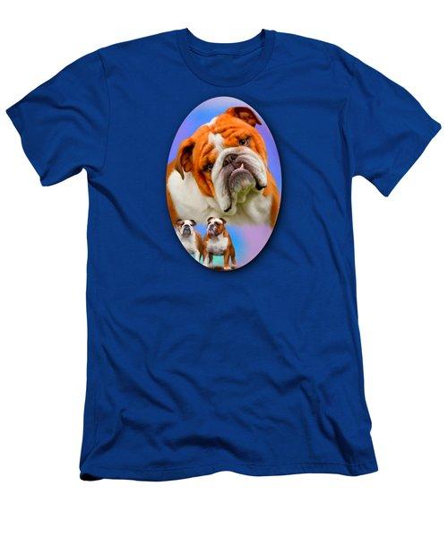 English Bulldog- No Border Men's T-Shirt (Athletic Fit)