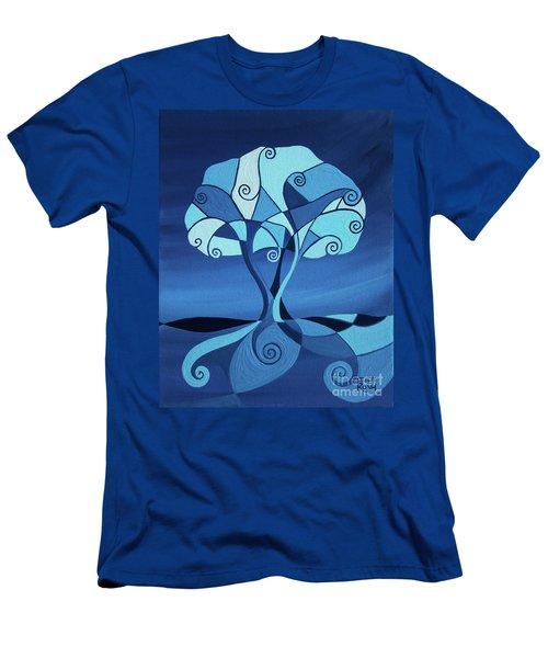 Enveloped In Blue Men's T-Shirt (Athletic Fit)