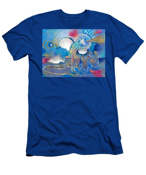 Eruption Of A Wish At The Fire Ceremony Men's T-Shirt (Athletic Fit)