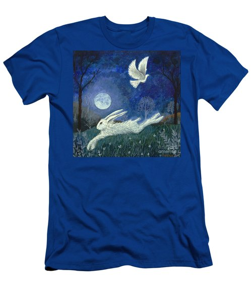 Men's T-Shirt (Athletic Fit) featuring the painting Escape With A Blessing by Lise Winne