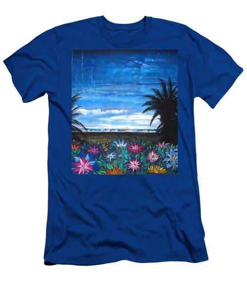 Tropical Evening Men's T-Shirt (Slim Fit) by Mary Ellen Frazee