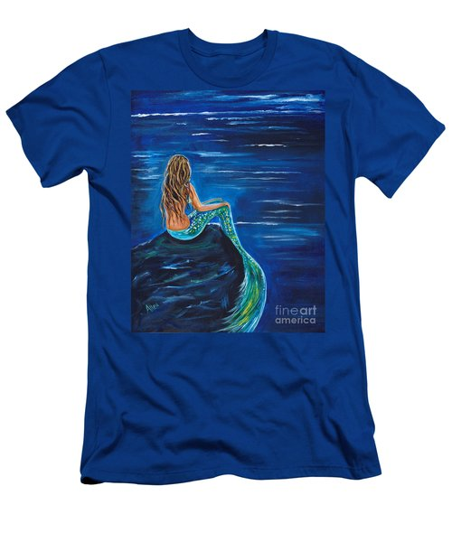 Evening Tide Mermaid Men's T-Shirt (Slim Fit) by Leslie Allen