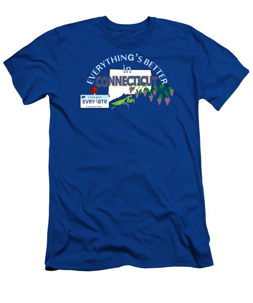 Everything's Better In Connecticut Men's T-Shirt (Slim Fit) by Pharris Art