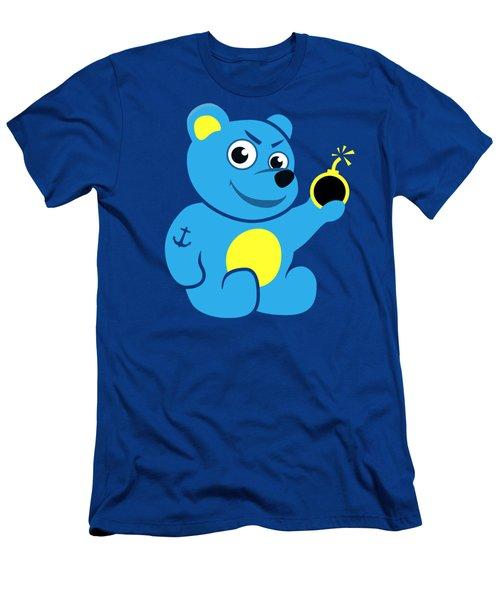 Evil Tattooed Teddy Bear Men's T-Shirt (Athletic Fit)
