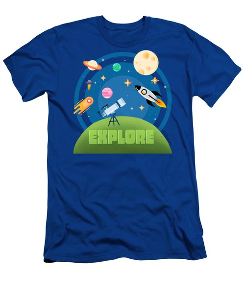 Explore Space Men's T-Shirt (Athletic Fit)