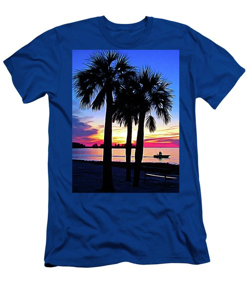 Men's T-Shirt (Athletic Fit) featuring the photograph Expressionalism Beach Sunset by Aimee L Maher Photography and Art Visit ALMGallerydotcom