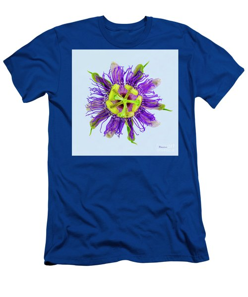 Expressive Yellow Green And Violet Passion Flower 50674b Men's T-Shirt (Athletic Fit)