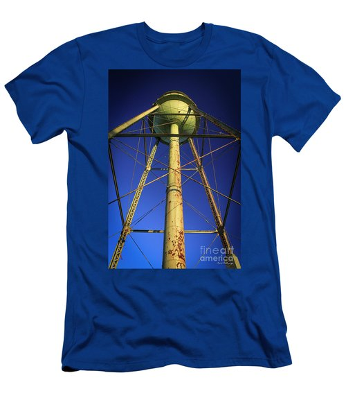 Men's T-Shirt (Slim Fit) featuring the photograph Faithful Mary Leila Cotton Mill Water Tower Art by Reid Callaway