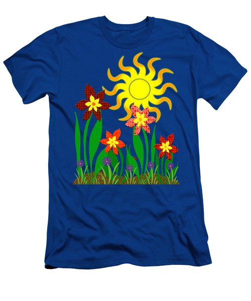 Men's T-Shirt (Slim Fit) featuring the digital art Fanciful Flowers by Shawna Rowe