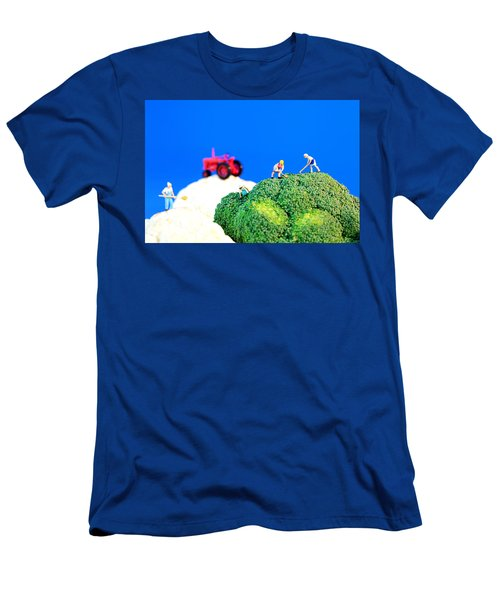 Farming On Broccoli And Cauliflower II Men's T-Shirt (Athletic Fit)