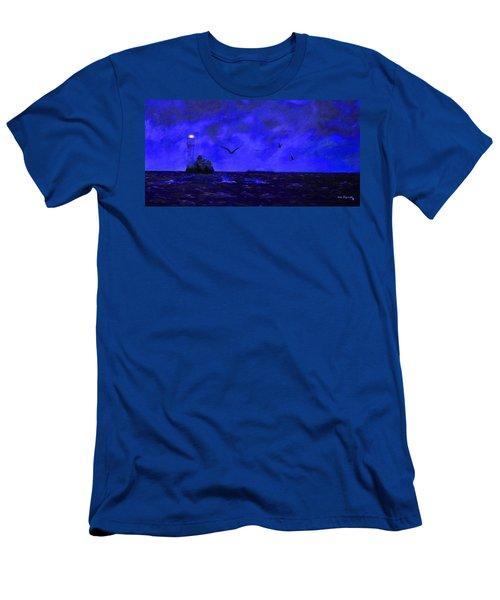 Fastnet Light Ireland Night Men's T-Shirt (Athletic Fit)