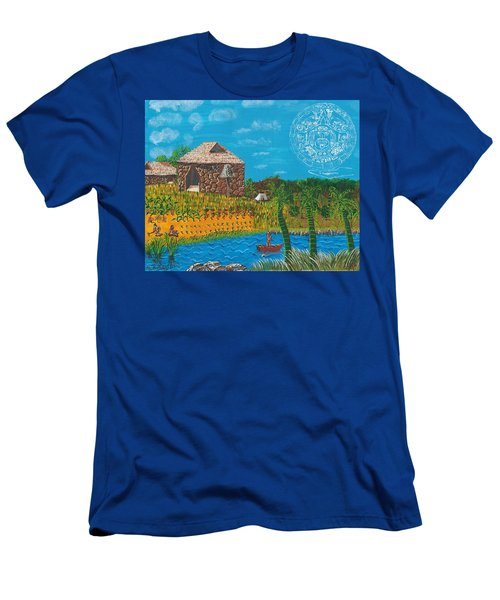 February  Mayan Farm Men's T-Shirt (Athletic Fit)